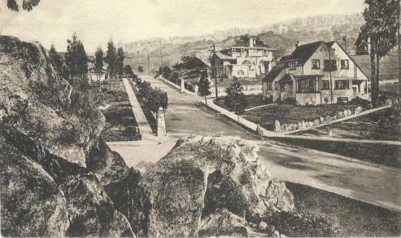 Residence District, Northbrae, postcard (ca.1910), Anthony Bruce collection.