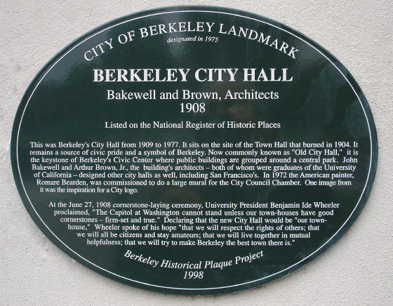 Plaques located throughout the city.