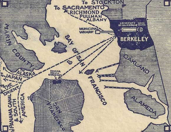 """Berkeley, California,"" Chamber of Commerce Brochure (ca.1915), Sarah Wikander collection."