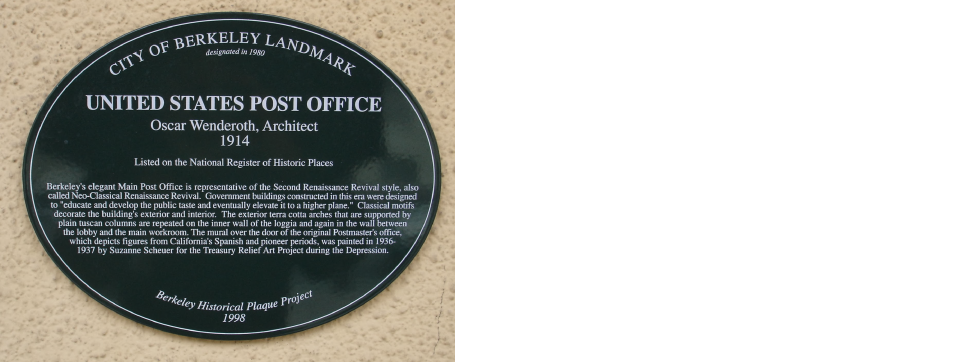 Post Office Plaque