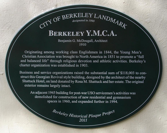 Young Men's Christian Association Plaque