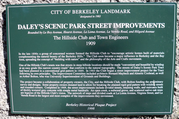 Daley's Scenic Park Street Improvements Plaque
