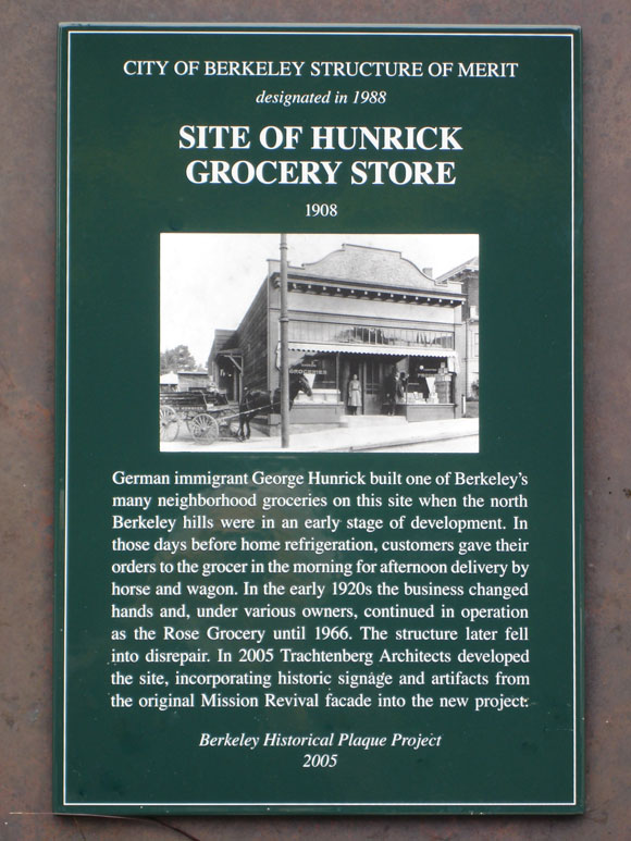 Hunrick Grocery Store, site Plaque