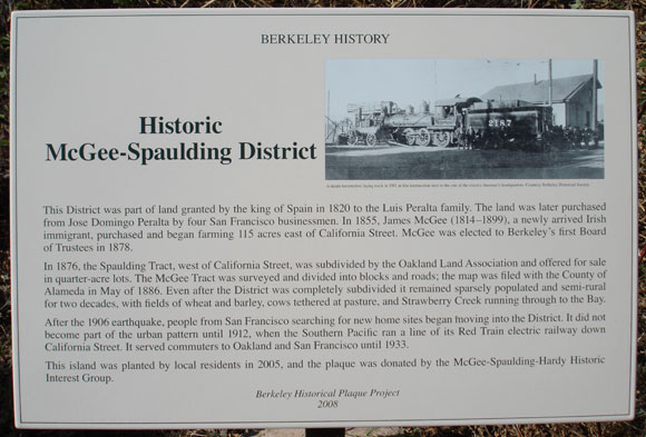 Historic McGee-Spaulding District Plaque