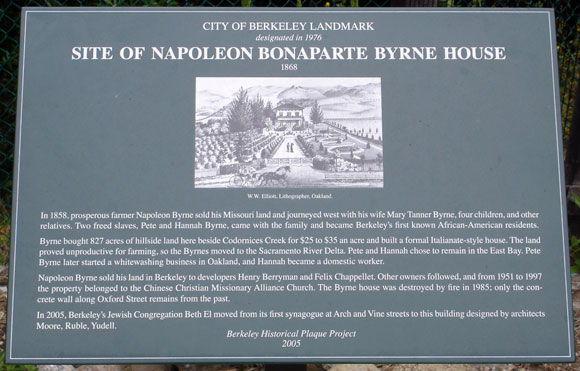 Napoleon Bonaparte Byrne House Plaque