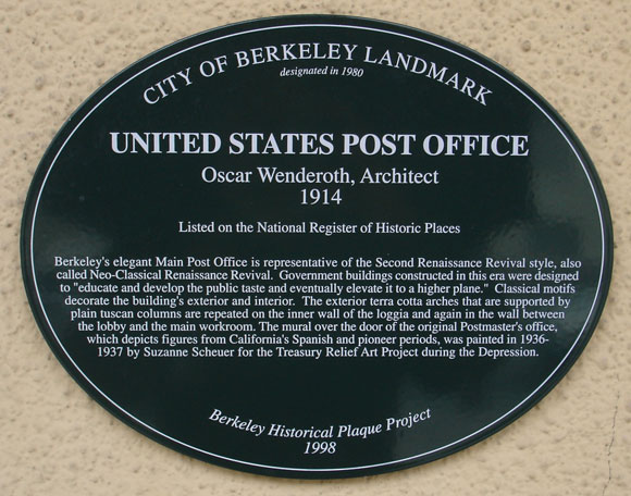 United States Post Office Plaque