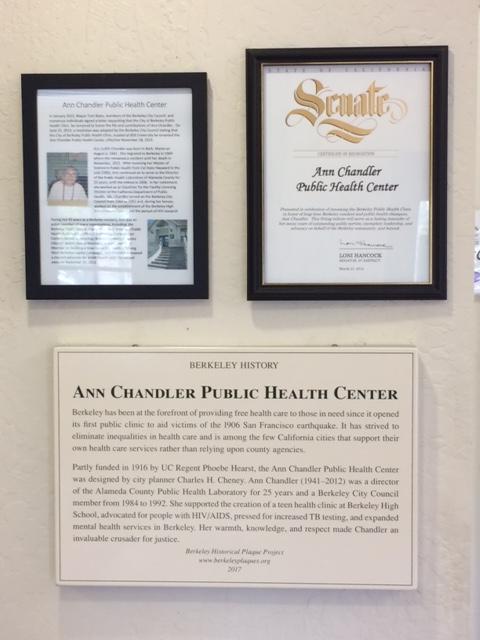 Berkeley Historical Plaque Project – Ann Chandler Public